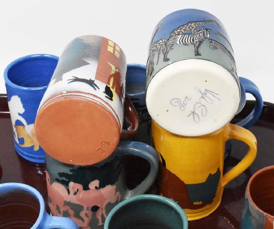 12 West Cote Bell pottery mugs - 3