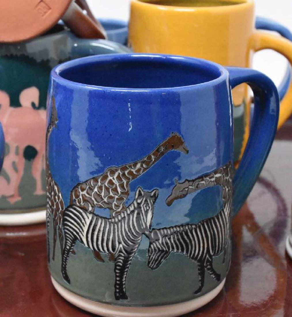 12 West Cote Bell pottery mugs - 4