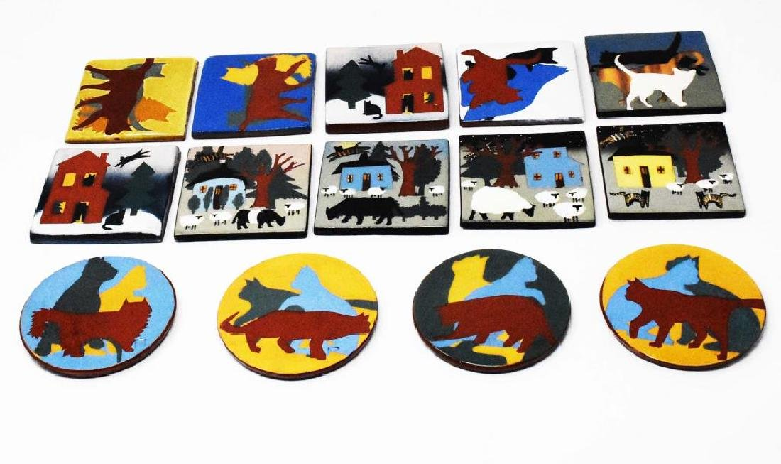 18 West Cote Bell pottery tiles