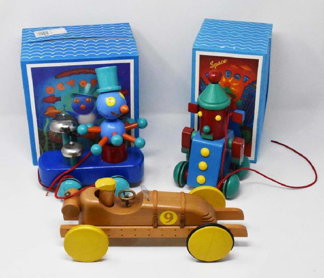 3 wooden toys