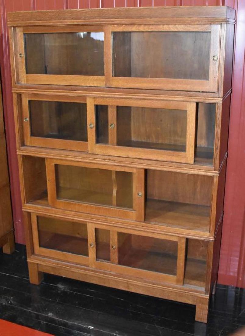 4 stack oak bookcase