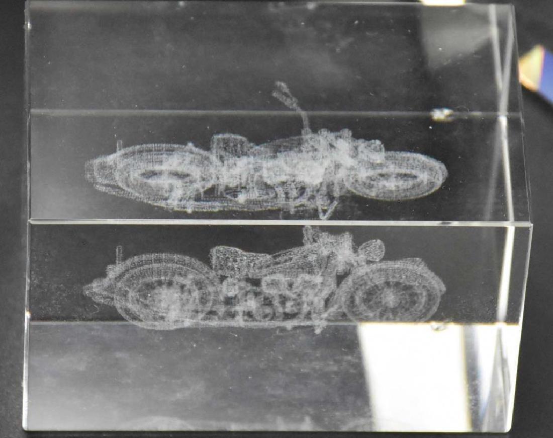Jon Kuhn glass paperweight plus 2 others - 2