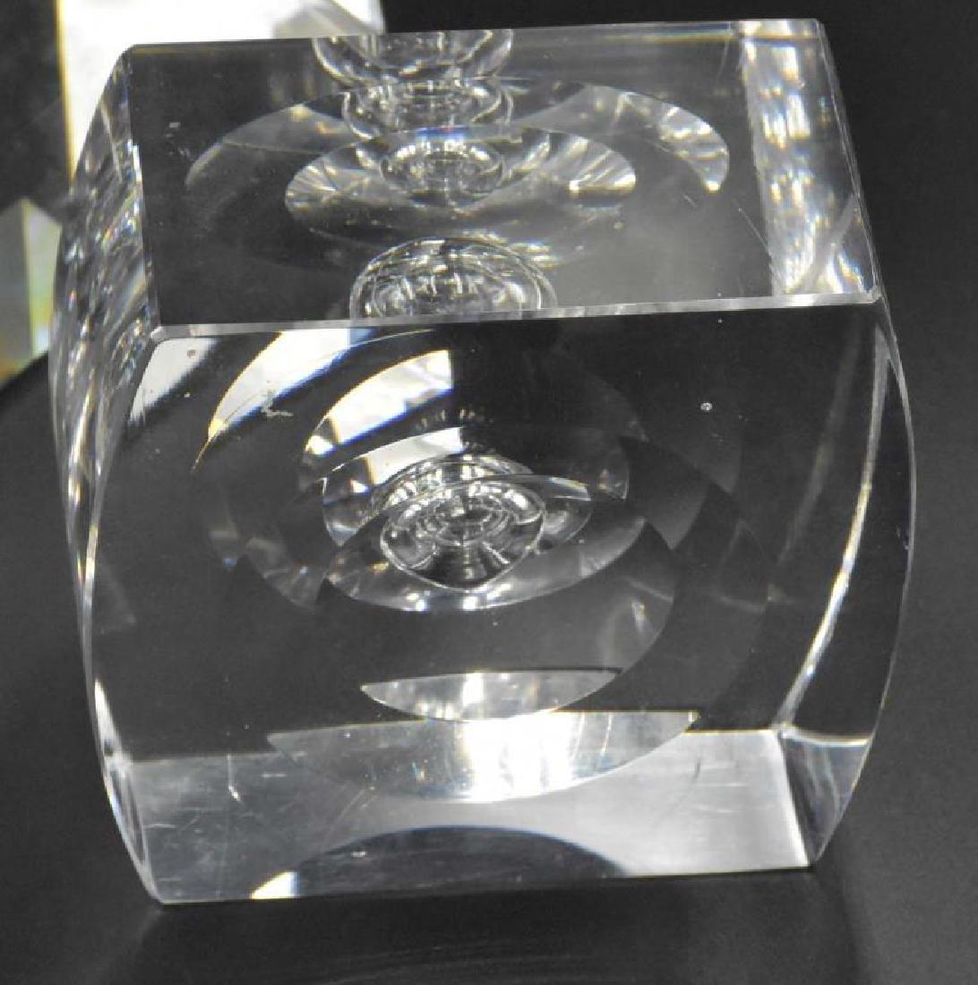 Jon Kuhn glass paperweight plus 2 others - 3
