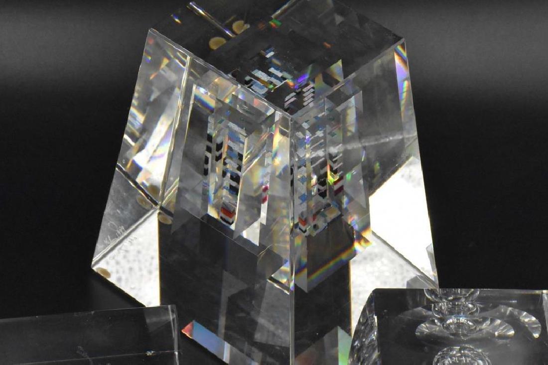 Jon Kuhn glass paperweight plus 2 others - 4