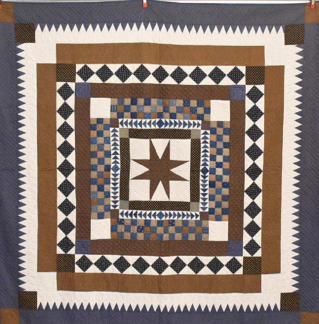 Hand stitched Amish quilt