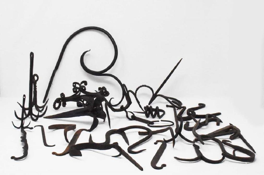 30 pieces of hand wrought iron