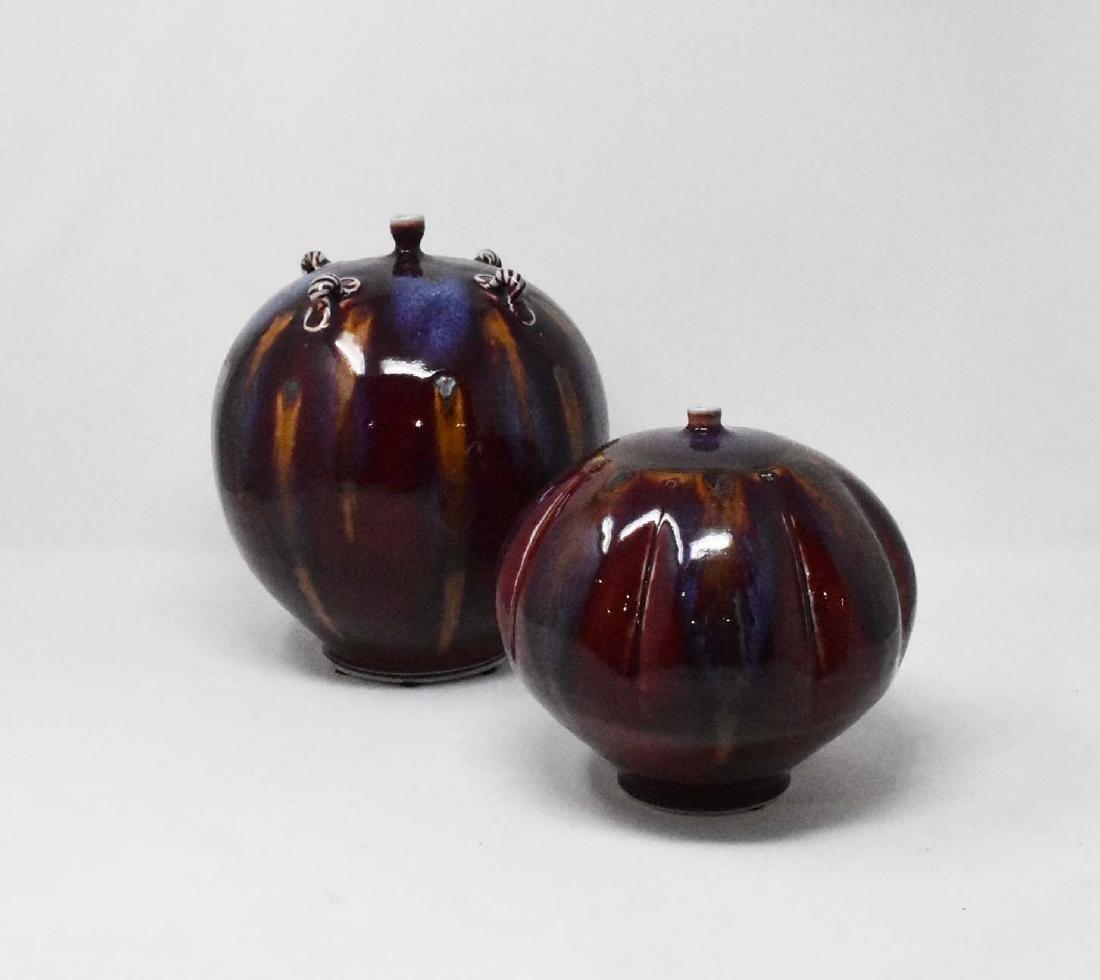2 pieces of signed Tom Turner Ceramics