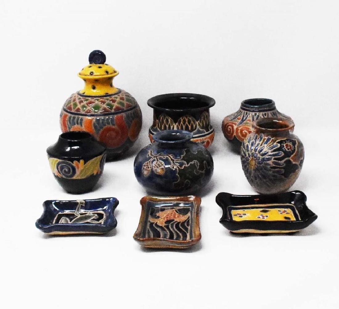 9 pieces of Cathra-Anne Barker Ceramics