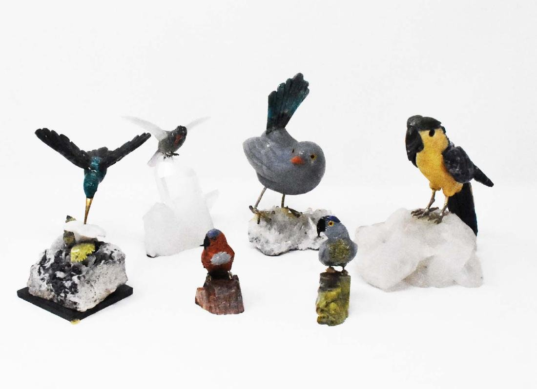 6 gemstone birds