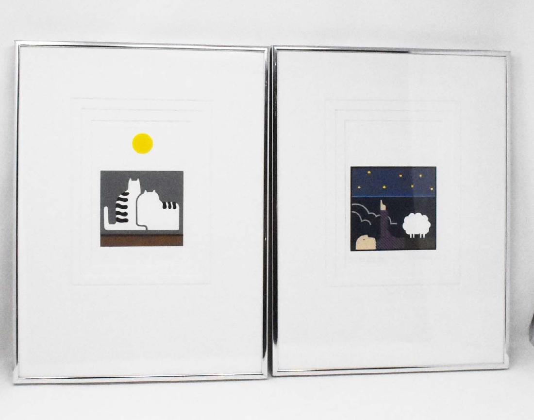 2 pieces of artwork signed Christina Parrett