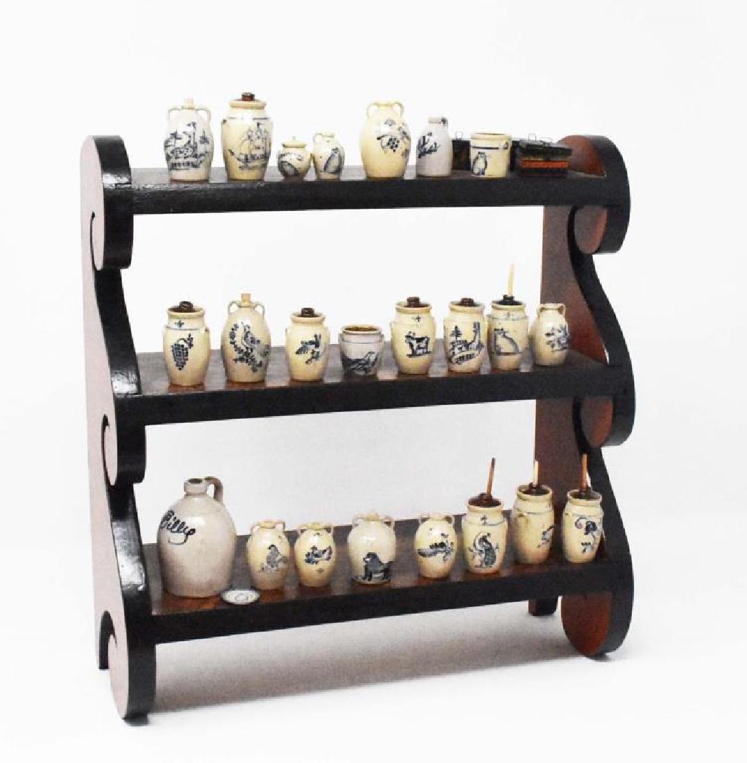 Hanging set of shelves