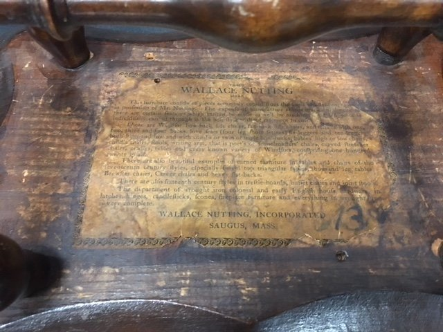 Signed Wallace Nutting footstool - 2