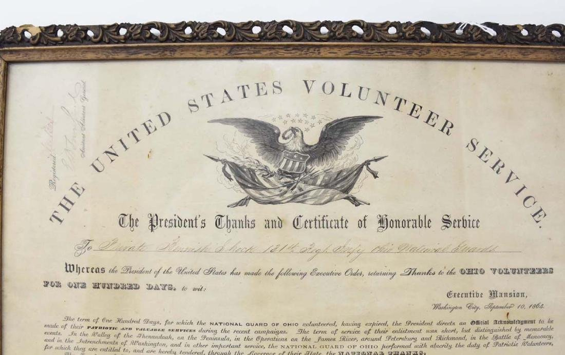 Civil War Discharge with Abraham Lincoln Signature - 3