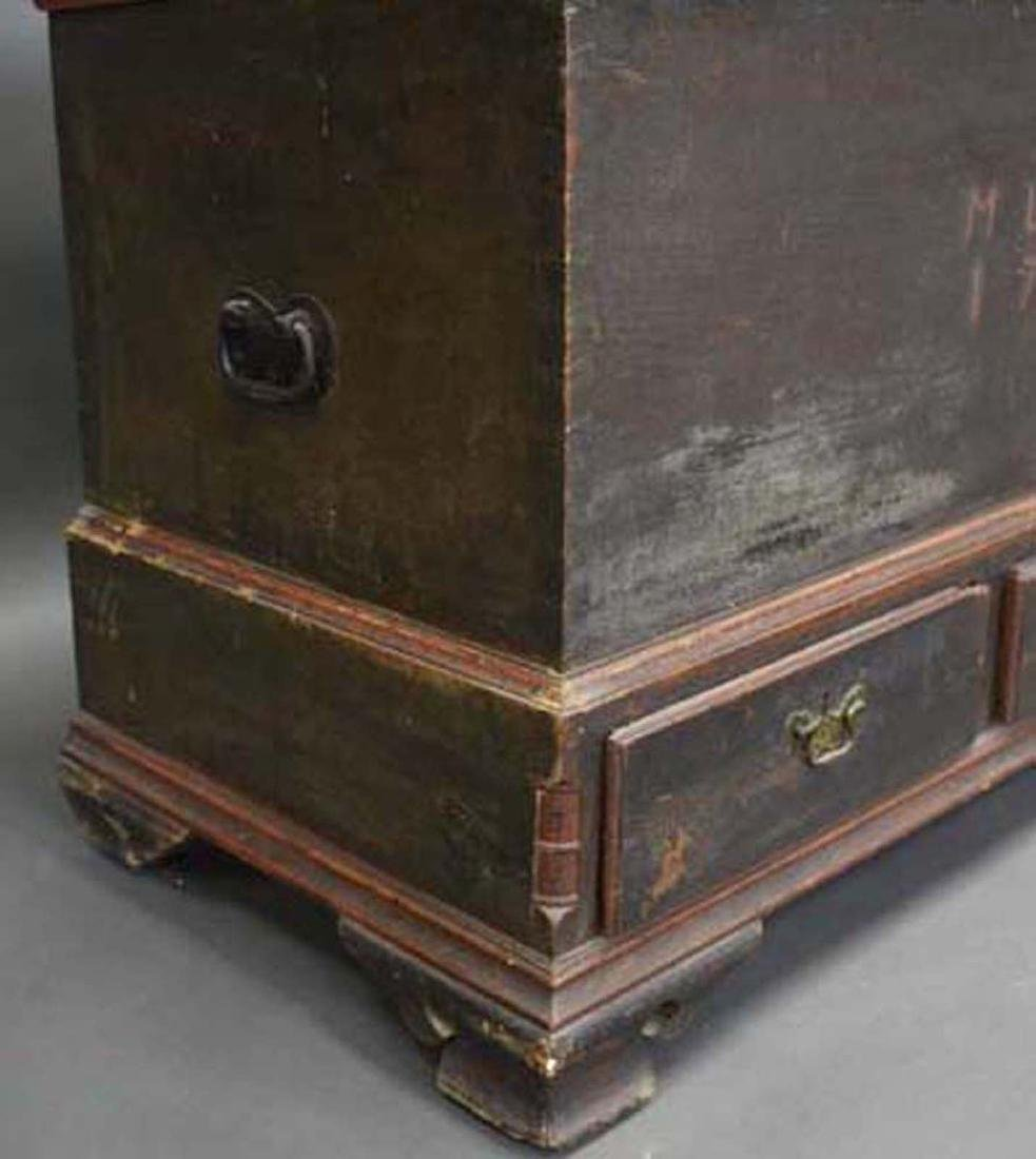 1786 Pennsylvania Painted Blanket Chest - 2