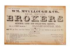 1850's Abraham Lincoln Business Card