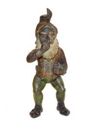 Rare Cigar Store Terra Cotta Polychrome Gnome