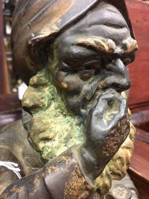 Rare Cigar Store Terra Cotta Polychrome Gnome - 3