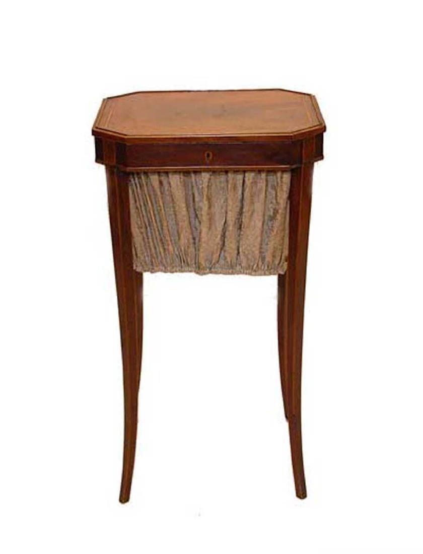Regency Inlaid Sewing Work Table