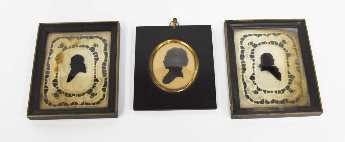 3 Early American Portrait Silhouettes
