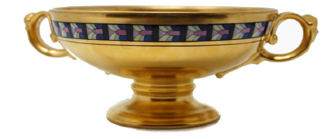 Art Deco Figural Picard Porcelain Artist Signed Bowl - 2