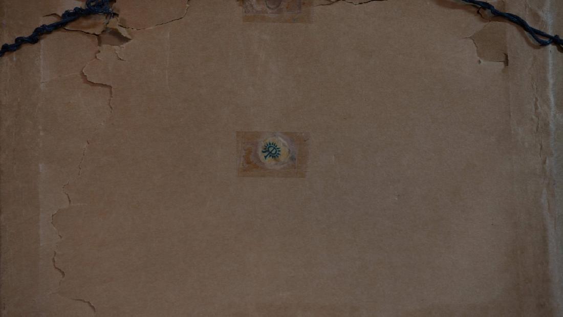 Rookwood Vellum Plaque Landscape Scene In Frame E.T. - 5