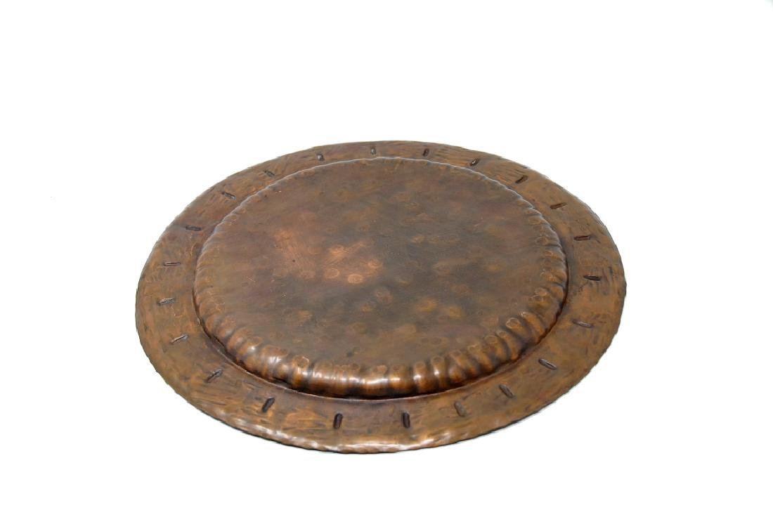Glander Mission Hand Wrought Copper Tray - 2