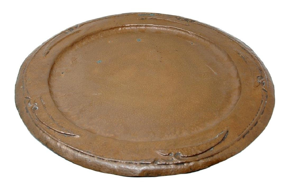 Large Mission Arts And Crafts Stickley Copper Tray