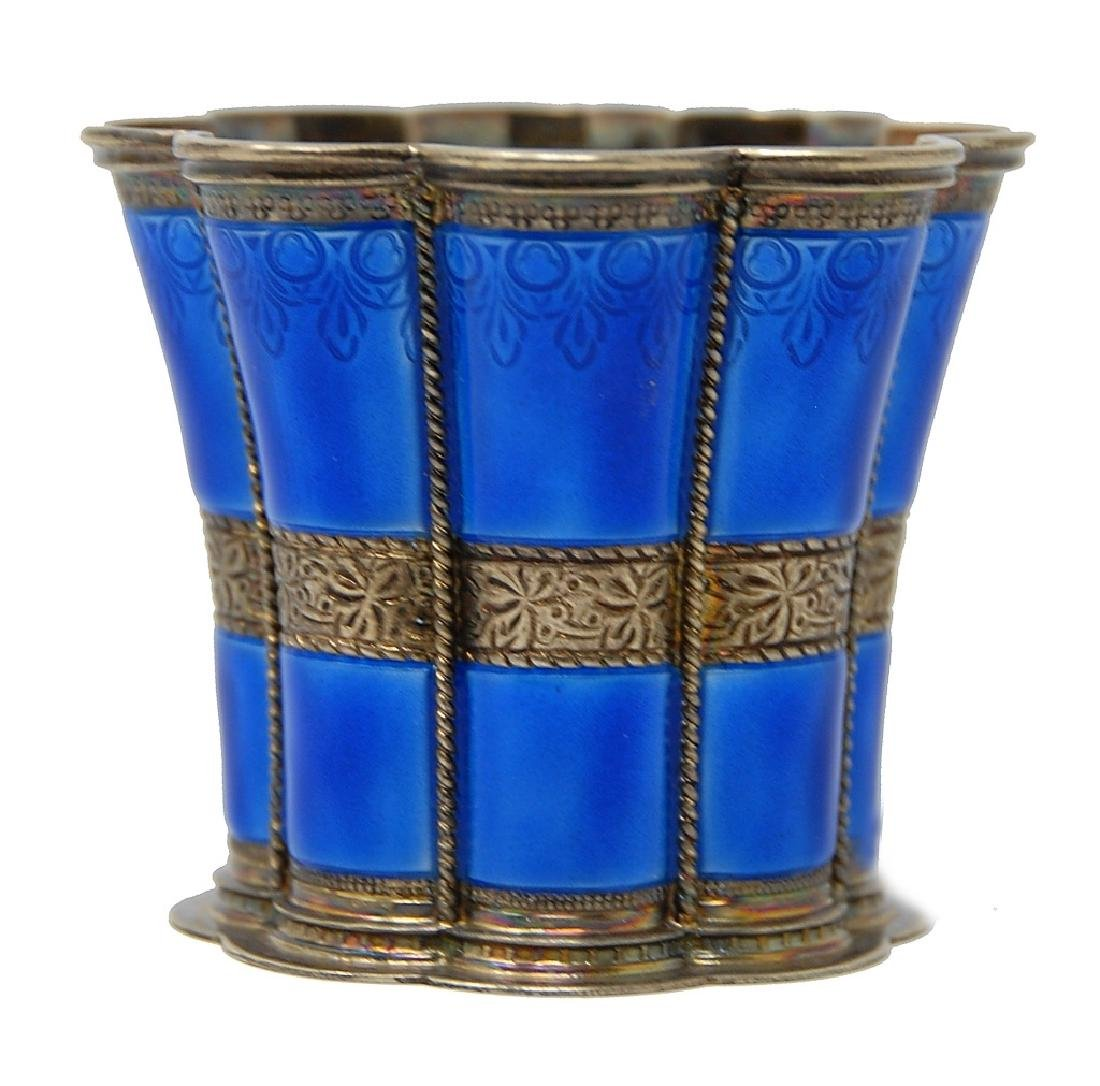 A. Michelsen Enameled Sterling Silver Cup
