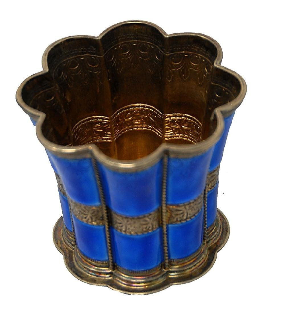 A. Michelsen Enameled Sterling Silver Cup - 2