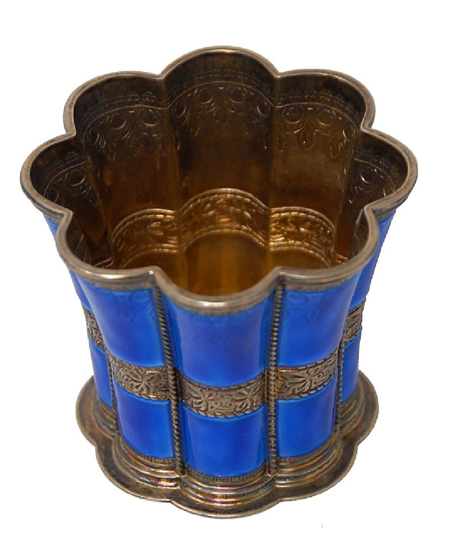 A. Michelsen Enameled Sterling Silver Cup - 4