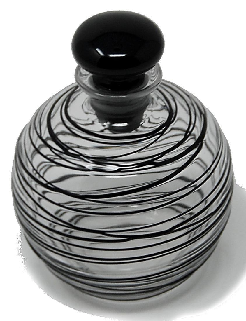Steuben Threaded Glass Scent Bottle - 2