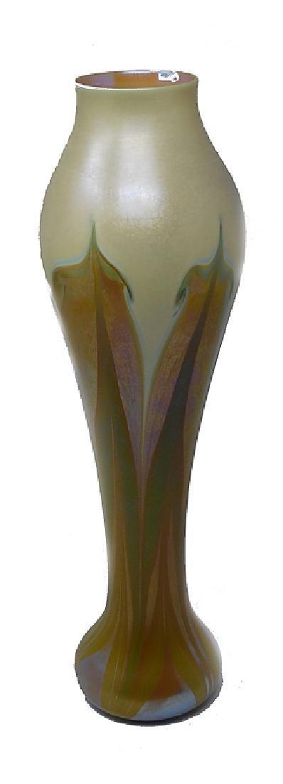 """Art Nouveau Durand Art Glass Vase 17"""""""