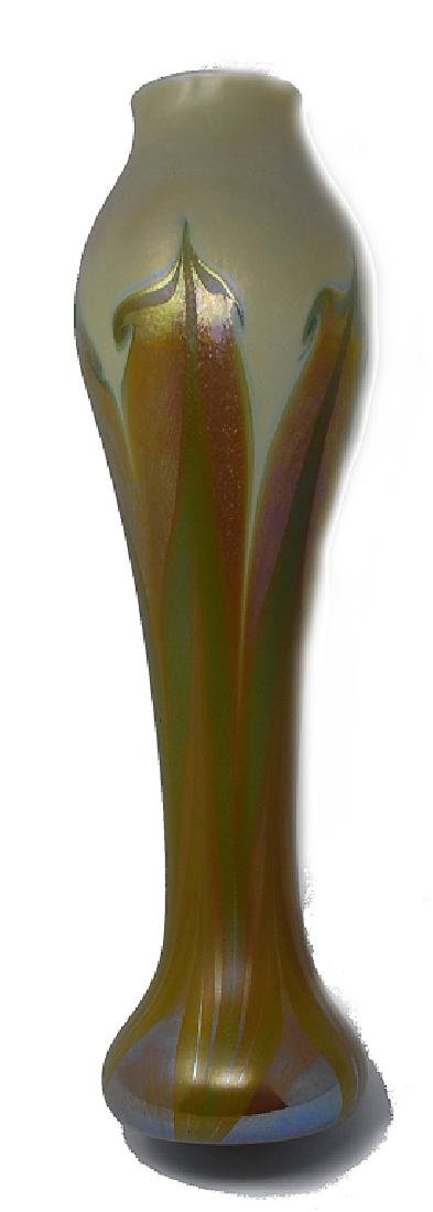 """Art Nouveau Durand Art Glass Vase 17"""" - 2"""