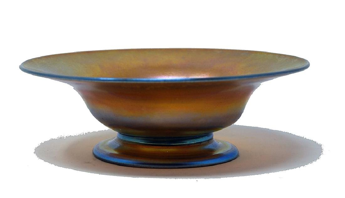 Tiffany Gold Favrile Footed Bowl
