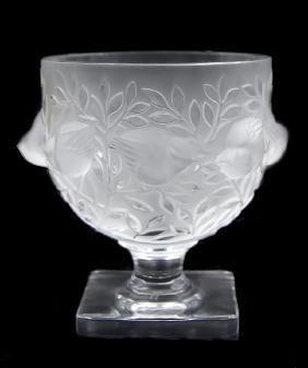 R. Lalique Crystal Vase