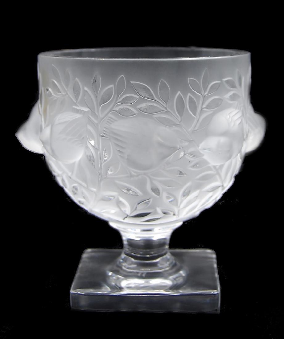 R. Lalique Crystal Vase - 2