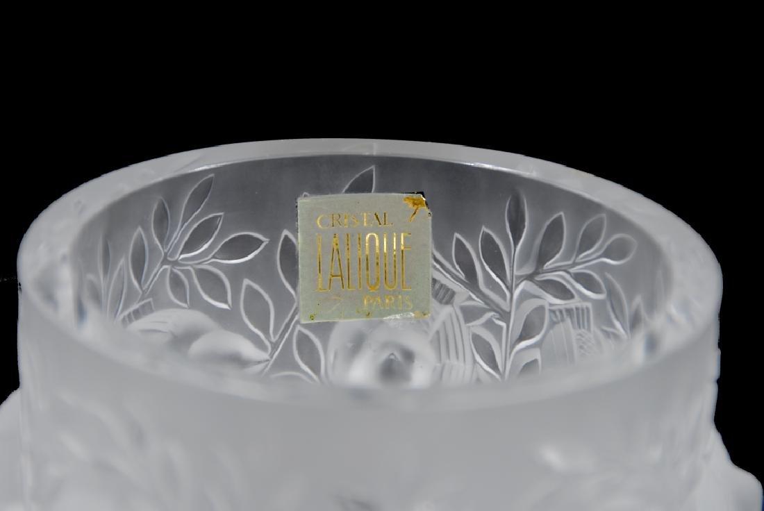 R. Lalique Crystal Vase - 4