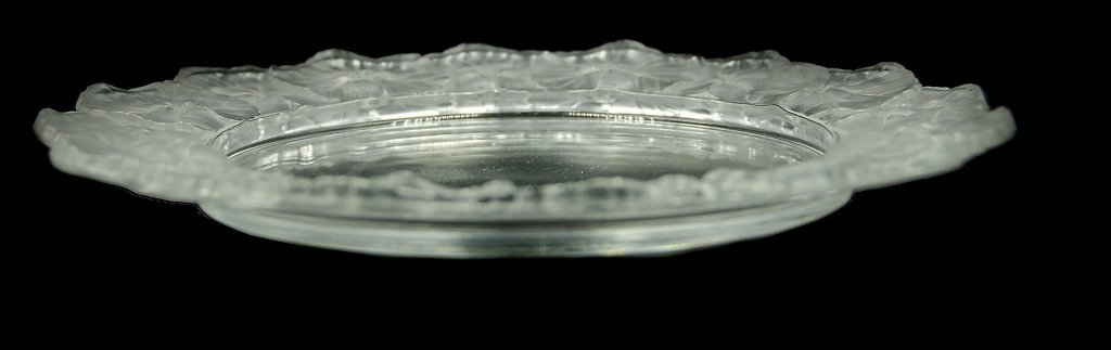 R. Lalique Frosted Crystal Charger - 2