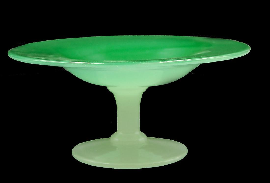 Steuben Green Jade Alabaster Compote
