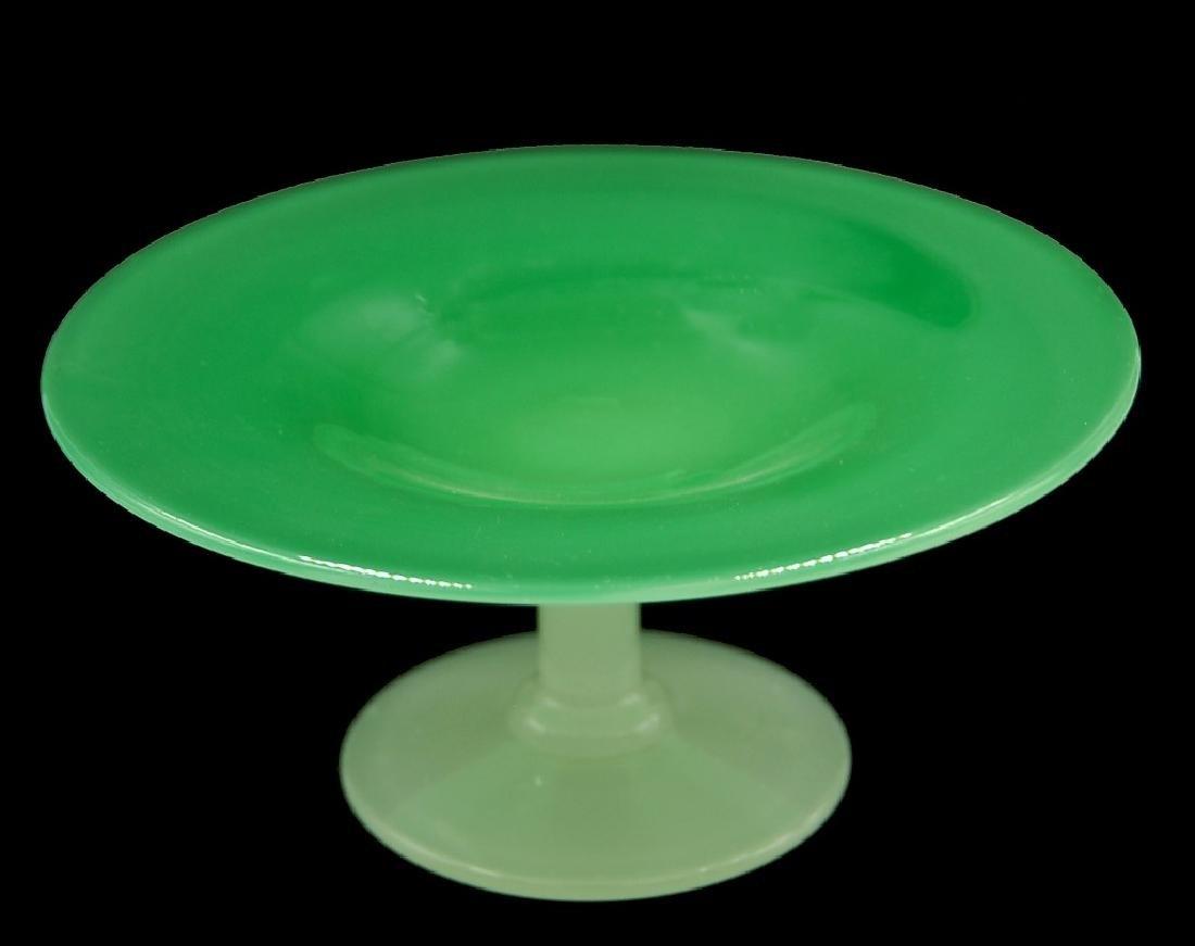 Steuben Green Jade Alabaster Compote - 2