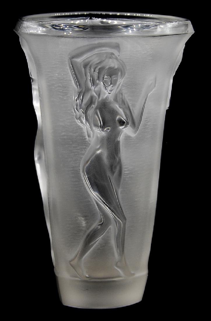 Nachtmann Frosted Crystal Vase Germany