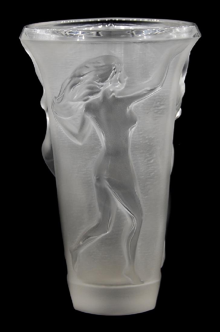Nachtmann Frosted Crystal Vase Germany - 2