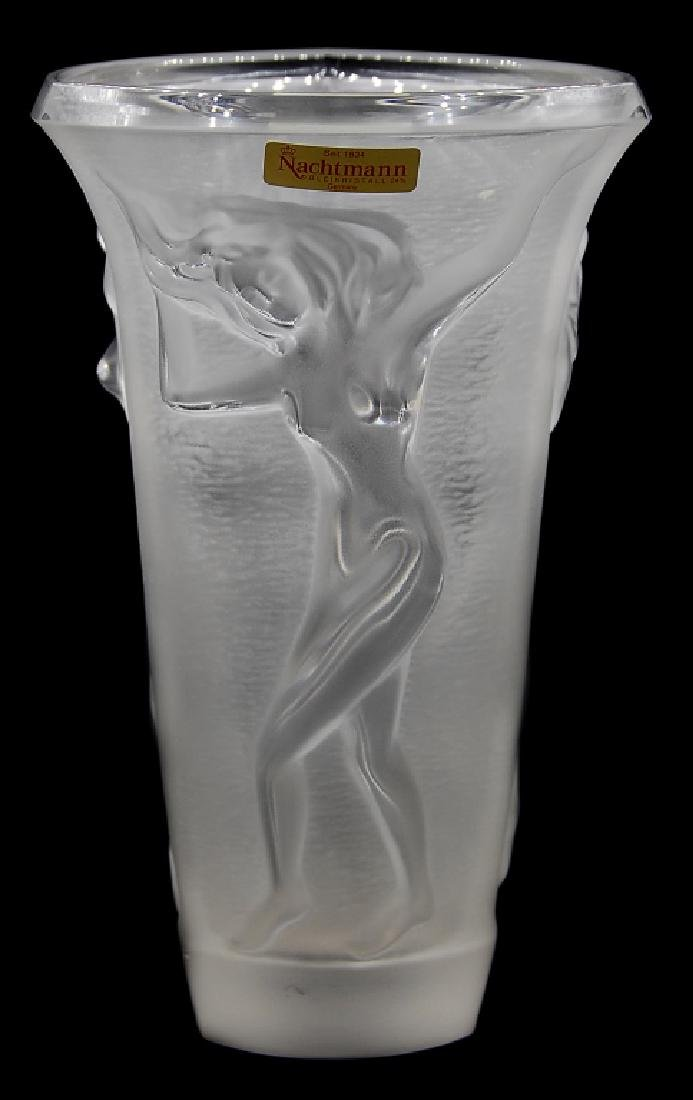 Nachtmann Frosted Crystal Vase Germany - 3