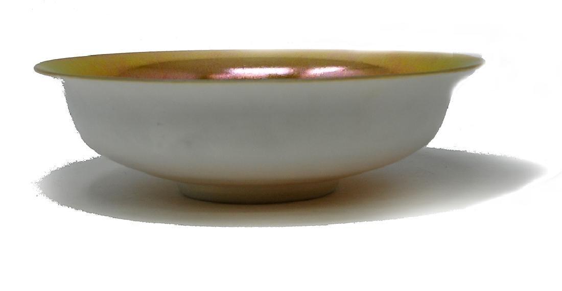 Steuben Calcite Gold Aurene Bowl - 2