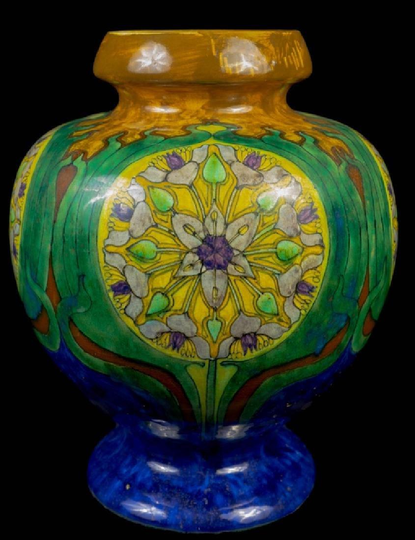 Art Deco Bulbous Rozenburg Pottery Vase