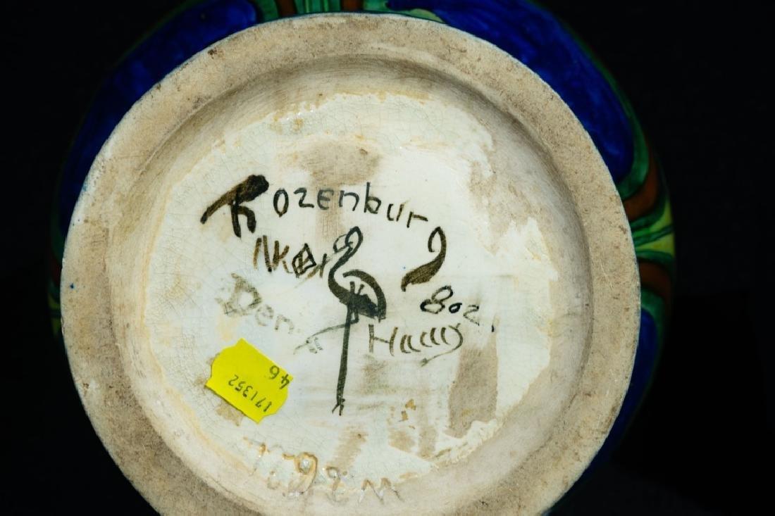 Art Deco Bulbous Rozenburg Pottery Vase - 2
