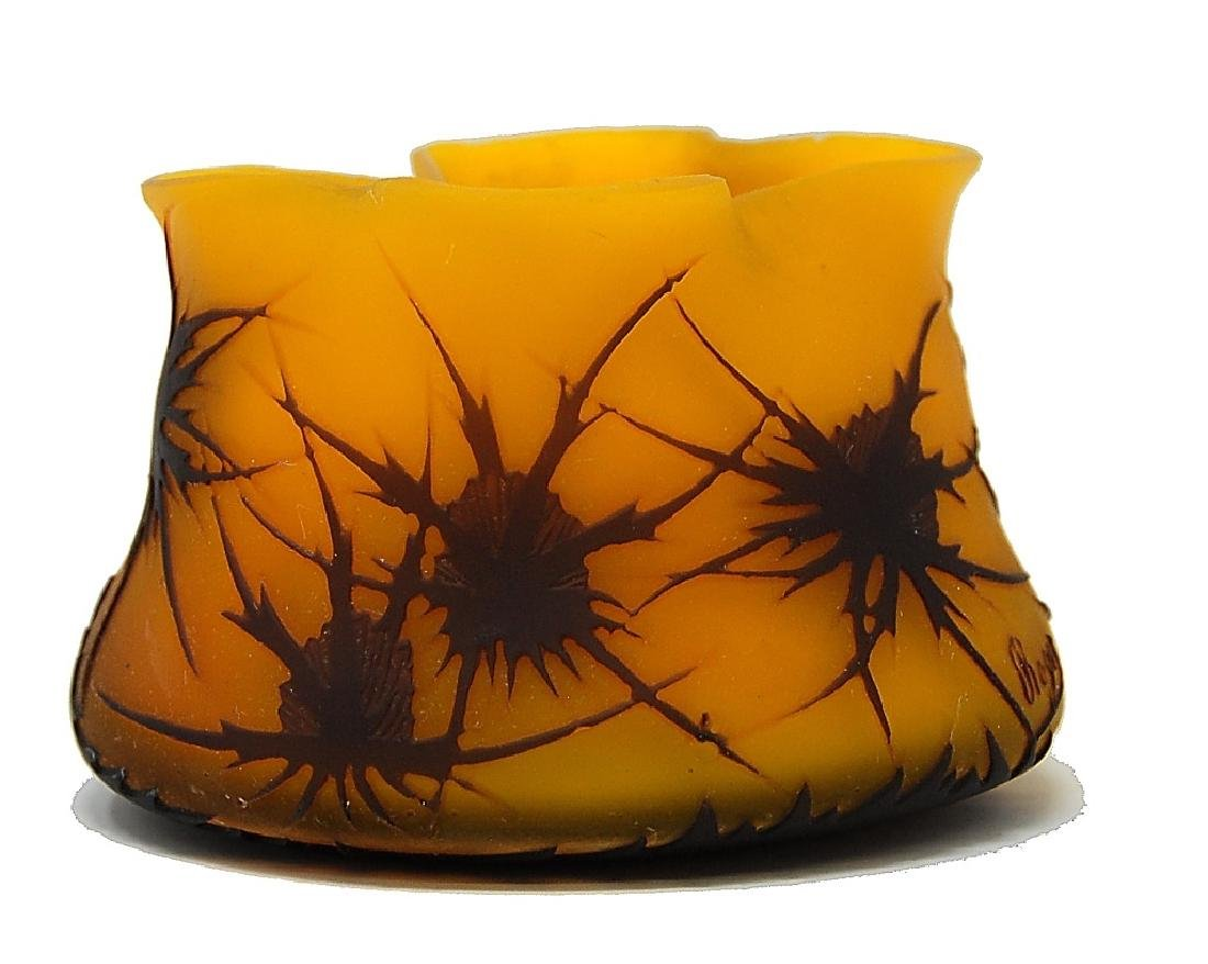 French Roger Cameo Art Glass Bowl - 2