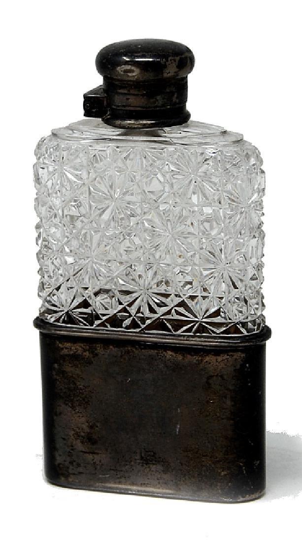 Cut Glass Sterling Silver Tiffany Co. Flask