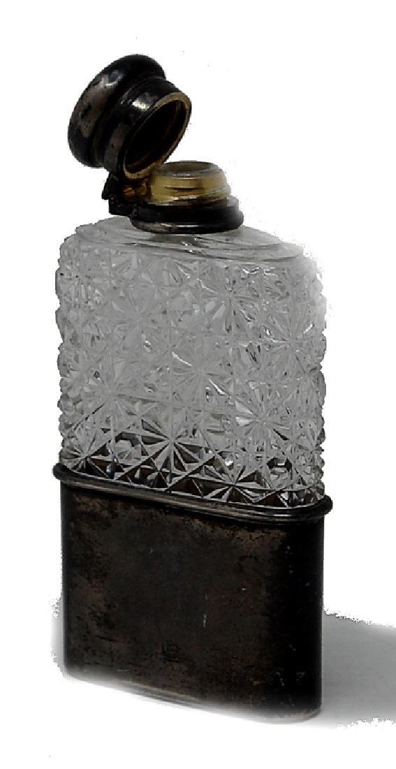 Cut Glass Sterling Silver Tiffany Co. Flask - 3