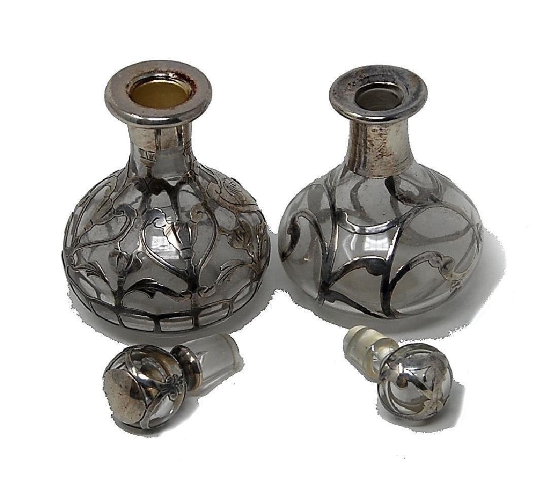 Two Sterling Silver Overlay Bottles - 4